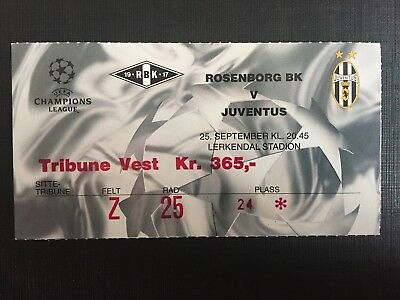 Biglietto Stadio Ticket Rosenborg-Juventus Champions League 2001/'02