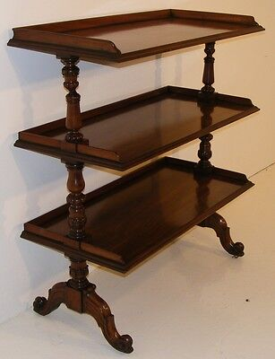 Good Quality Antique Mahogany Dumb Waiter Buffet Server