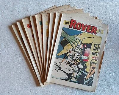 9 1971 Issues of The Rover ALL HIGH GRADE UK Comic