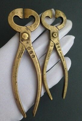 set nippers for sugar brass Russian Empire 1880-1917 master Варыпаевь