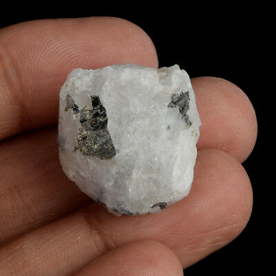 Egl Certified 100% Natural 45 Ct. White Rainbow Rough Loose Gemstone V-5886