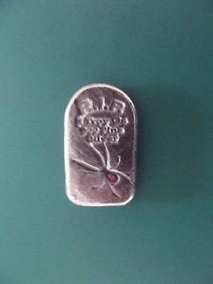 2 Troy Oz. MPM Tombstone Red Back Spider, Ltd Ed #208  .999 Fine Silver Bar.