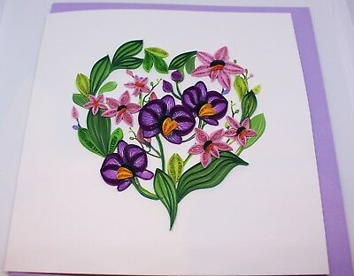 "Handmade Quilling Cards ""Flower Love"""