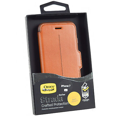 Genuine OtterBox Strada iPhone 7 Leather Book Flip Wallet Case Cover iPhone 8