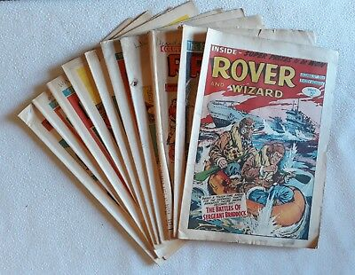10 Issues 1964 - 1970 Rover & Wizard UK Comic