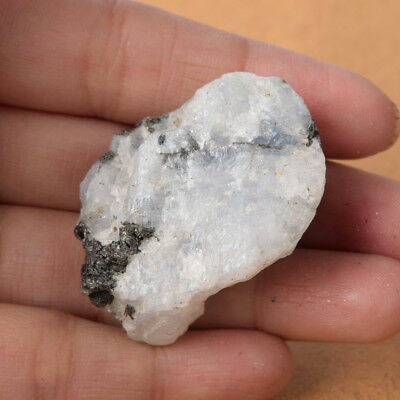 134 Ct. 39 x 31 mm Certified Natural White Rainbow Rough Loose Gemstone AV-850