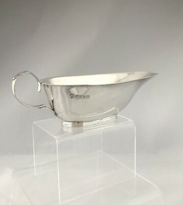 Solid Silver Art Deco Sauceboat 1922 Birmingham Williams Ltd