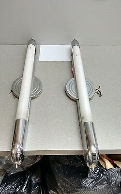 Pair Vintage Art Deco Styled Bathroom Sconces-Moe Light Company_..