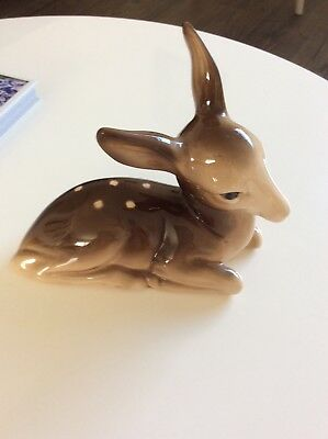 Vintage china bambi fawn deer. Kitsch. Excellent condition.