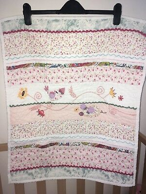 Mamas & Papas Made With Love Mini Coverlet Quilt - Gorgeous!