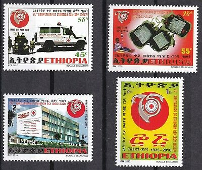 Ethiopia: 2010: 75th Anniversary of the Ethiopian Red Cross, MNH