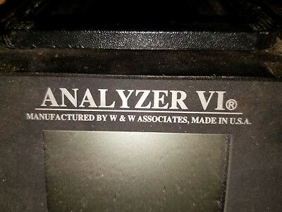 #2 W & W Manufacturing Co. ANALYZER VI Battery Analyzer & Conditioner