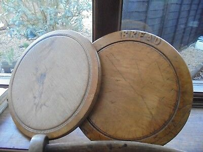 2 Vintage Wooden Bread Boards - Collectable Kitchenalia