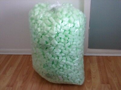 3 Bags Of Green Polystyrene Chips Featherlight Ideal For Post Or Storage