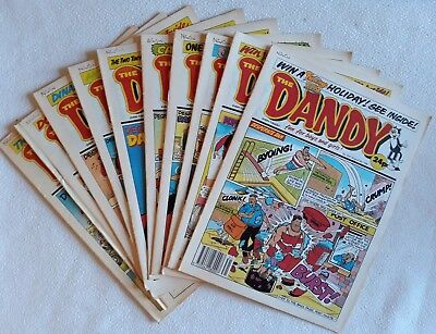 10 Consecutive 1990 Issues of The Dandy ALL VF UK Comic