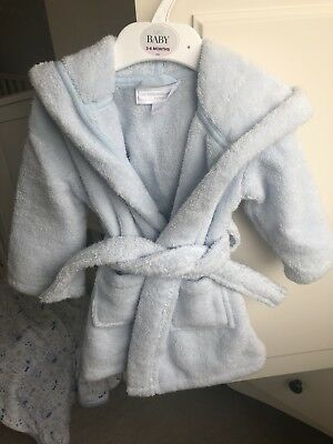 Baby Boy Dressing Gown/robe White Company 6-12 Months