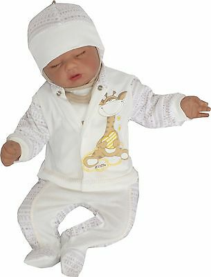 4 TLG Set Baby Starterset First Outfit 50 56 62 68 100% Cotton Unisex
