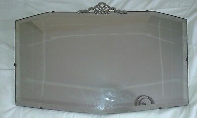 bow topped bevel edged mirror