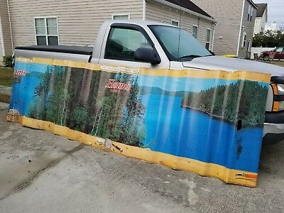 Vintage Hamm's Beer Cardboard Sign/wrap  15ft long x  48 Inches High