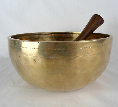 Bol chantant tibétain du Népal 1595 gr - 21,5 cm - 7 métaux  Singing Bowl