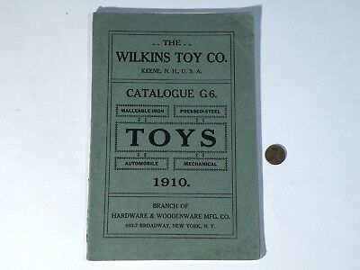 1910 WILKINS TOY CO. Original Catalog - 46 pages of cast iron wheeled toys ++++