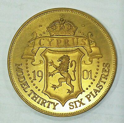 Personal collection release Cyprus Edward VII Proof Pattern Coin