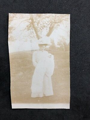 Vintage BW Real Photo #BU: Smart Edwardian Lady: Baby Christening Robe