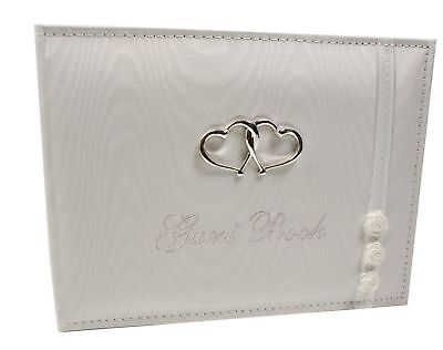 Bridal White Wedding Guest Book ENGAGEMENT SCRAPBOOK Album Gifts Memory
