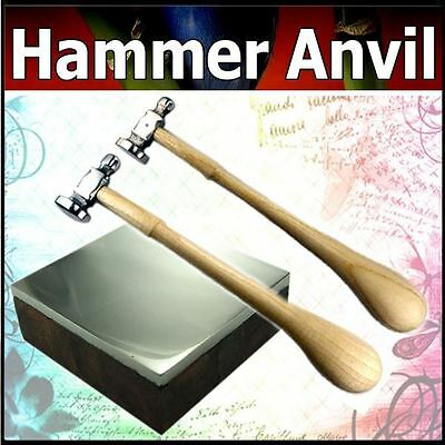 Dome Flat Face Chasing Jewelry Hammer Bench Block Anvil