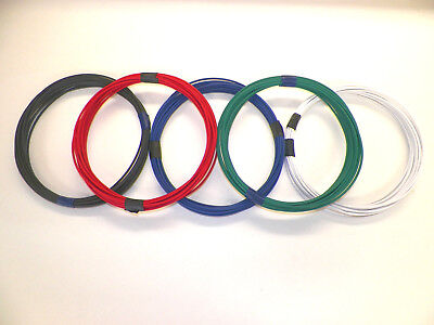 16 GXL9 STRIPED COLORS 10 FEET EACH 90 FEET TOTAL  HIGH TEMP AUTOMOTIVE WIRE