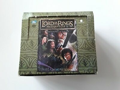 Lord Of The Rings Masterpieces 2 Trading Cards Box Of Approx 250 Cards