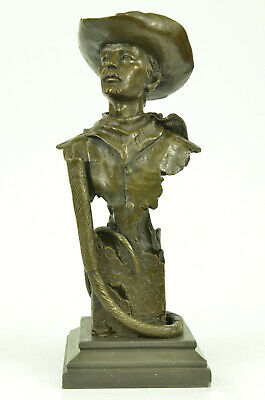 Signed Collector Edition Buffalo Bill Statue Figurine Bronze Sculpture Western