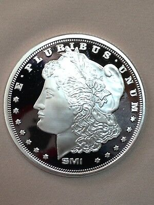 1 oz Morgan Design Silver Round .999 Fine with Mint Mark