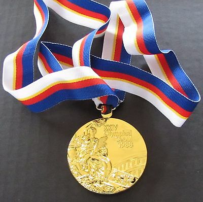 Gold Medal - 1988 Seoul, Korea Olympics - With Silk Ribbon & Storage Pouch