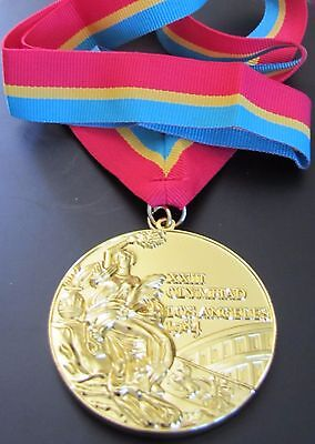 Gold Medal - 1984 Los Angeles Olympics - With Silk Ribbon & Storage Pouch