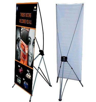 "Large Banner X Stand 31"" x 71"" Bag Trade Show Display Advertising Weather Proof"