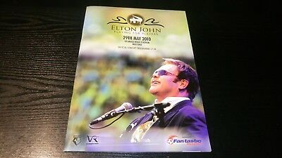 Elton John - Playing for Players at Watford FC 2010 - Concert Programme