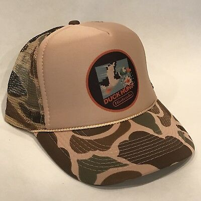 Duck Hunt Vintage Camo Nintendo Video Game Hunting Trucker Hat Brown  Camouflage 02b114d7584