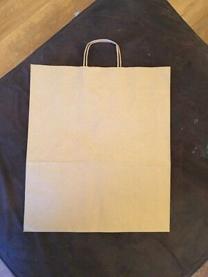 Recycled Kraft Paper Carrier Bags 400x470x190mm Pack Of 100