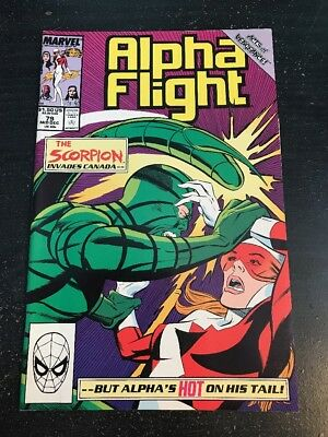 """Alpha Flight#79 Incredible Condition 9.4(1989) Scorpion""""Acts Of Vengeance"""""""