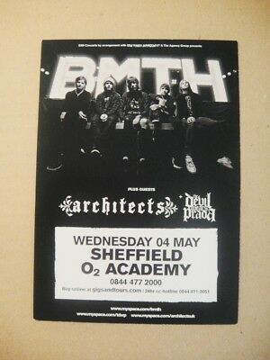 BRING ME THE HORIZON- SMALL FLYER- SHEFFIELD O2 ACADEMY-2011 with the ARCHITECTS