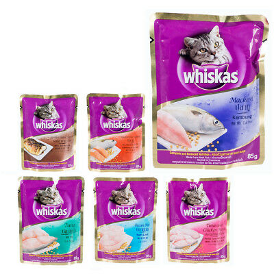 85g Whiskas Cat Wet Food Pouch Made From Real Fish Nutritious Healthy Appetizing