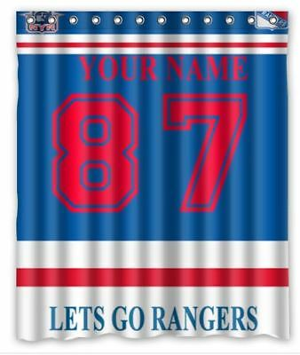 Beautiful New York Rangers NHL Shower Curtain Size 60x72 Inch With Hooks