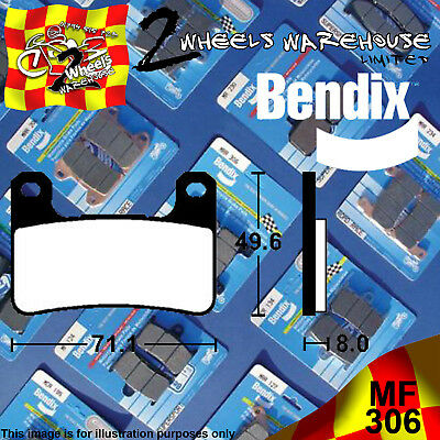 Bendix 306-Mf Front Sintered Brake Pads To Fit Motorcycles Detailed In Listing