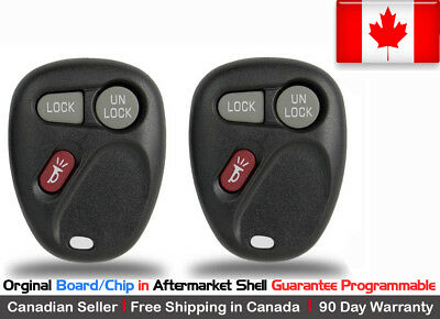 2x New OEM Replacement Keyless Remote Key Fob Oldsmobile GMC Chevy KOBUT1BT