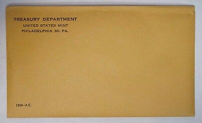 1959 Unopened Silver Proof Set Still sealed in Mint Cello & Envelope