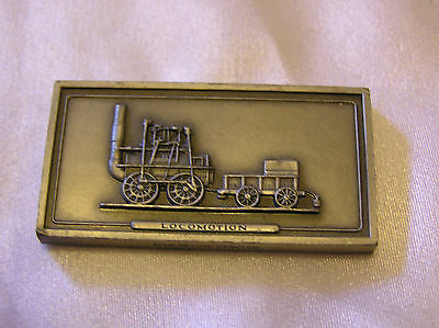 SOLID PEWTER INGOT of the LOCOMOTION LOCOMOTIVE