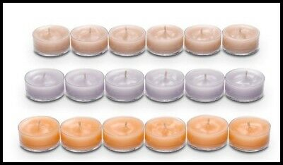 Partylite One (1) Box Of 18 Tealight Candles Woodland Combo Amber Oak Tealights
