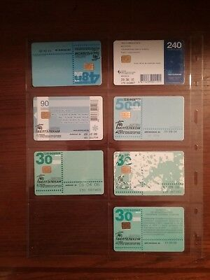 Used phone cards from Belarus