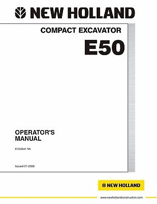 New Holland EC240 Excavator Operators Owners Operation /& Maintenance Manual Part Number # 73183065